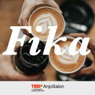 Fika (with TEDxAnjo logo)